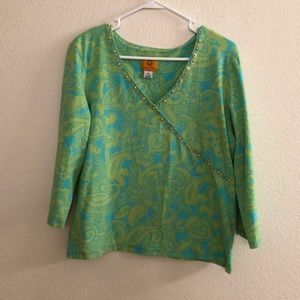 Ruby Rd V neck top ladies size XL